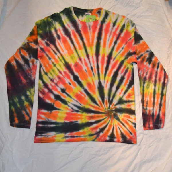 long sleeve custom tie dye