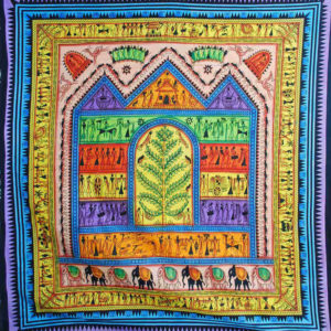 Monkey House Colourful Indian Tapestry