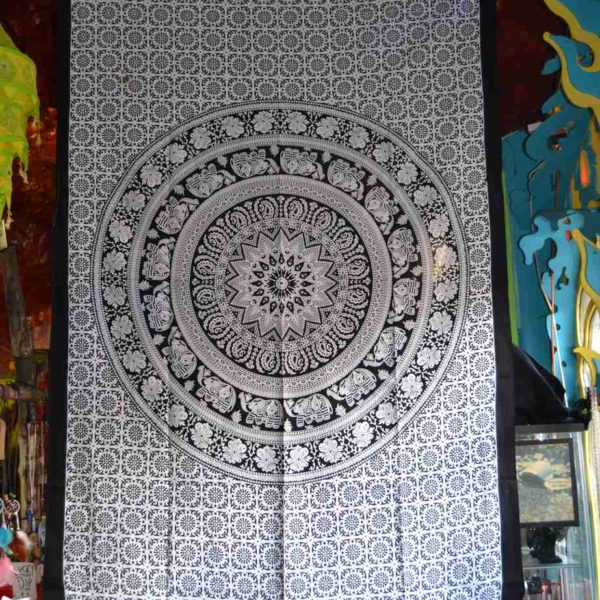 Elephant mandala single size Indian Tapestry Wall Hanging