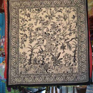 Black & White Tree Of Life Indian Tapestry Wall Hanging Bedspread