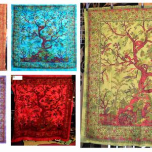 tree of life india tapestry wall hanging collage