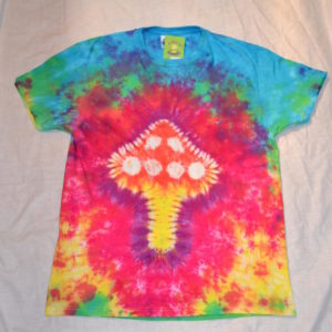rainbow Magic Mushroom Tie Dye T shirt