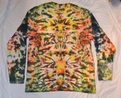 black yellow fire sweatshirt