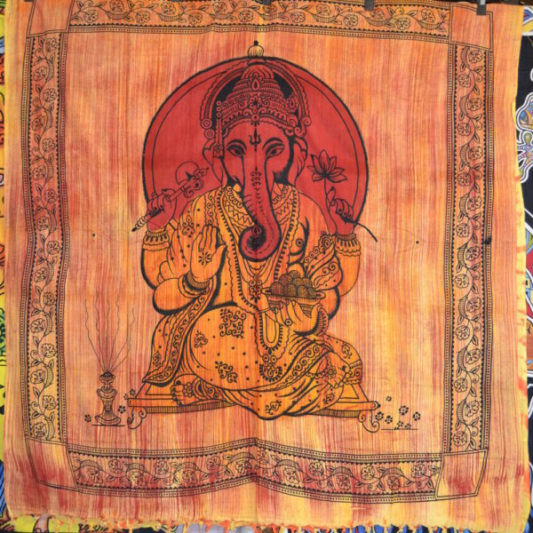 Brush Ganesh Hindu God Indian Tapestry
