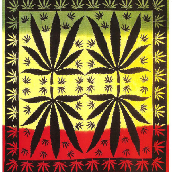 Rasta Cannabis Weed Leaf Ganja Indian Tapestry Wall Hanging