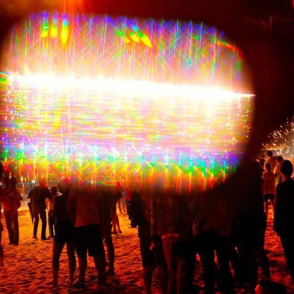 diffraction glasses effect